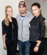Adriana Lima and Erin Hetherton-At Enrique Iglesias tour in Newark September 24th 2011