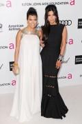 Ким Кардашиан, фото 7951. Kim Kardashian Elton John AIDS Foundation Academy Awards Party - 02/26/12*with sister Kourtney, foto 7951,