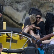 Эшли Бенсон, фото 373. Ashley Benson at Busch Gardens in Tampa Bay 03/03/12*with Vanessa Hudgens, foto 373,