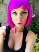 Eva Amurri Martino - cleavage and wearing a wig 07/17/12 Twitpics