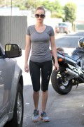 *HQ ADDS* Jennifer Lawrence see-thru to bra exiting gym in Santa Monica (August 8th, 2012)